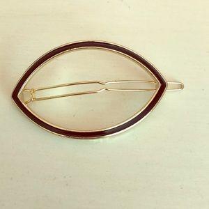 🍰Sale! Zara black & gold hair barrette. Not used